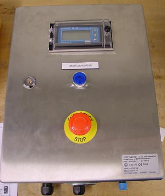 RVS behuizing met digitale indicator Exi