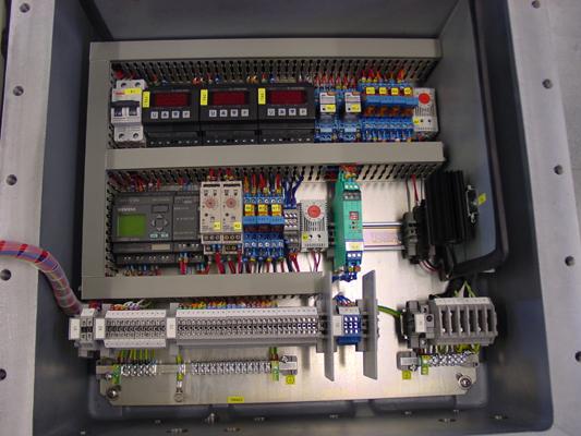 Binnenzicht van een control box ExdIIB