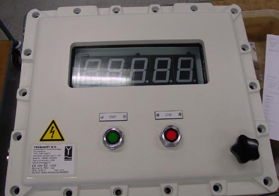 Control box ExdIIB met venster en display
