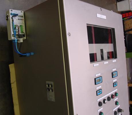 Detail van de controle unit