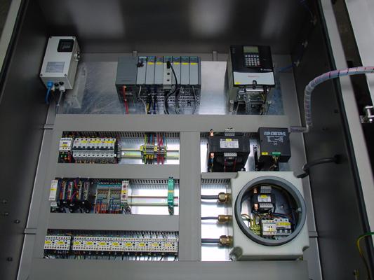 Binnenaanzicht van een Exp paneel met ingebouwde control unit