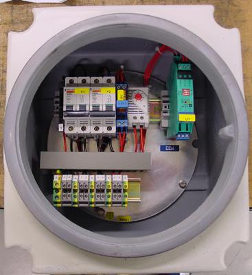 Binnenzicht van een control box ExdIIC